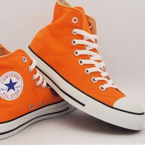 Orange High-top Converse